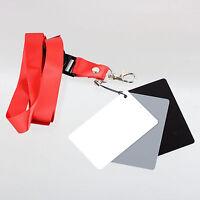 3in1 18%portable and economic Digital Gray Card White/Black/Gray White Balance
