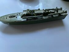 Vintage Green Toy Plastic Boat  Military  13 Inches 1940's 1950's
