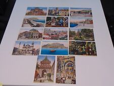14 VINTAGE PALERMO ITALY LANDMARK POSTCARDS ALL BUT ONE ARE CESAR CAPELLO MILANO