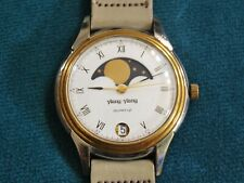 Nice Vintage Ylang-Ylang Two Tone Moon Phase Men's Watch w/Date