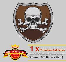 Auto Aufkleber Totenkopf Skull Schädel Pirat Wappen Biker Motorrad car Sticker