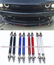 2x Black Adjustable Bumper Lip Air Dam Splitter Support Rods Strut Tie Bar 150mm
