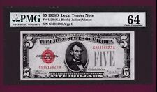 Fr. 1529  $5  1928 D   LEGAL TENDER UNITED STATES NOTE G 53916823 A PMG KEY DATE