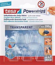 Tesa Powerstrips Selbstklebender Deko-Haken 58900/13, Small, 5 Haken, 8 Strips