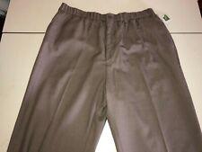 Kings Court  Brown Tweed Elastic Waist Pant Size W42 X L40 Tall Unhemmed