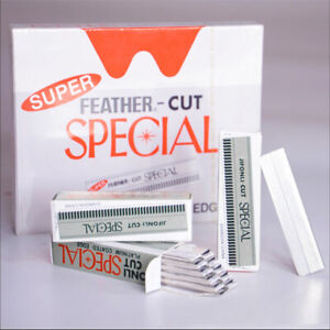 Feather Cut Eyebrow Razor Hair Shaper Remover Facial Trimmer 100x Blades Pack