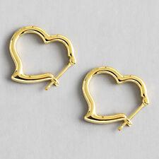Romantisch 18K Gold Liebe Herz Stud Ohrringe Für Damen Echt 925er Sliber Schmuck