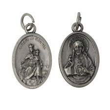 Catholic Our Lady of Mount Carmel Sacred Heart scapular medal for rosary pendant