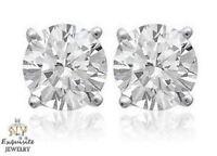 CERTIFIED 1.00ct 1ct ROUND-CUT E-F / VVS2-VS1 DIAMONDS PLATINUM STUDS EARRINGS
