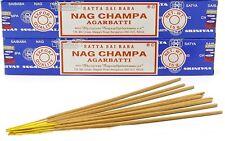 Räucherstäbchen Nag Champa Blau Nagchampa Satya Sai Baba blue Indien 24 x 15g