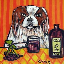 japanese chin dog art ceramic Tile abstract folk pop art Jschmetz kitchen