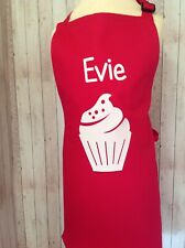 Girls Personalised Cupcake Apron Age 7-10 Years