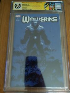 Wolverine #1 ComicsPro Blue Variant Cover Marvel 2020 CGC 9.8 SS Kubert/Percy