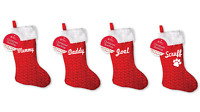Personalised family Christmas xmas stocking set your names mummy daddy kids pet