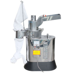 220V Automatic Continuous Herb Grinder Hammer Mill Pulverizer 40kg/h DF-40S