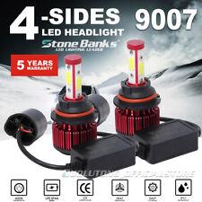 Pair 9007 LED Headlight Bulb Hi/Lo Beam 120W 32000LM HB5 4Side+Canbus EMC 6000K