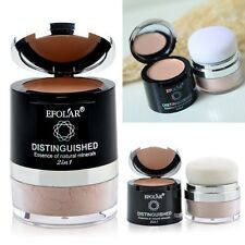 2 in1 Foundation Makeup Loose Powder Face Mineral Translucent + Concealer Cream