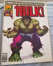 The Hulk #26 Marvel Magazine Group April 1981 F- 5.5 to VG+ 4.5