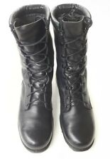 Ro Search Black Leather Military Boots Men's Size 9R PH 4-97 Full Lace