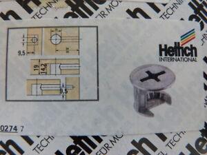 12 Stück Hettich Exzenter  Verbindungsbeschlag Rastex 15 für 19 mm - Böden