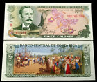 Costa Rica 5 Colones 1989 Banknote World Paper Money UNC Currency Bill