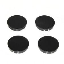 Set of 4 Black Plain Wheel Center Hub Caps Mic 60 Mm For BMW Mercedes VW Audi