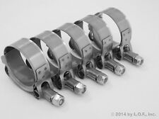 """5 T-Bolt Hose Clamps 38 - 44 MM ( 1.25"""" - 1.75"""" ) 1.5"""" Stainless Turbo Intake"""