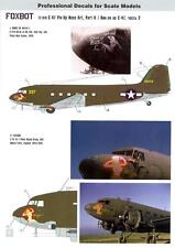 Foxbot Decals 1/72 DOUGLAS C-47 PIN-UP NOSE ART Ghost of Billie L & Fatigue