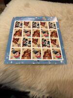 The Art of Disney Friendship Sheet - Twenty 37 Cent USPS Postage Stamps mnh Rare