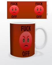 EMOJI F*CK OFF 11 OZ COFFEE MUG TEA CUP DECOR KEYBOARD MAC FUNNY  QUOTE ANGRY!!!
