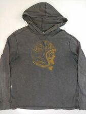 Denim & Supply Hooded Sweatshirt Long Sleeve Large Faded motorcycle helmet skull