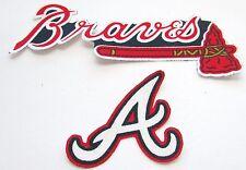 Atlanta Braves 2  no sew iron on appliques