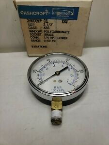 ASHCROFT Pressure Gauge #2C768 35W 1005PH 02L 100#
