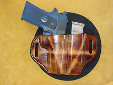 Colt 1911 .45 acp Commander size & magazine holster burnish brown kwik & free