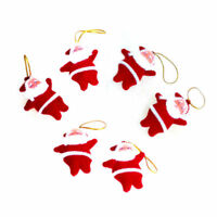 6pcs Mini Cute Santa Claus Doll Pendant Hanging Ornaments Christmas Tree Decor