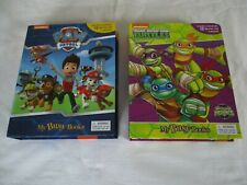 nickelodeon my busy books,  ninja turtles.  &  paw patrol