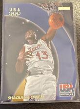 1996 Fleer Skybox USA Basketball Shaquille O'neal-(Blue Streak Background)