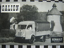 rare brochure RENAULT GALION moteur ETENDARD / français