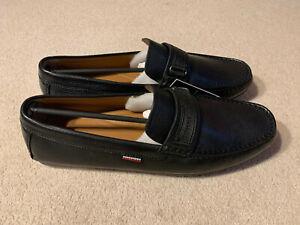 Tommy Hilfiger Tape Driver men's loafer shoes   black   size 10.5   new