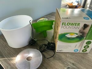 Catit Flower Fountain: 3L Cat Drinking Fountain, Slightly Used