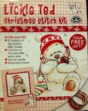 Christmas Festive lickle ted cross stitch Kit!