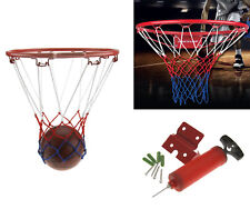 Junior Kids Wall Mounting Bracket 32Cm Basketball Ring Hoop Net Handpump & Ball