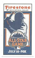 (5) 2013 MLB All Star Ballot New Unpunched Great Collecter's Item Free SnH L@@K
