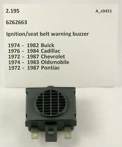1971-1987 Chevrolet Cadillac Buick Olds Pontiac NOS igntion buzzer 6262663