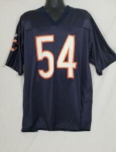 Brian Urlacher Chicago Bears Blue NFL Football Jersey #54 Size Large
