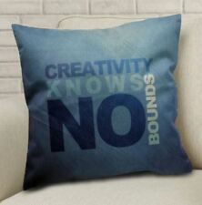 Cotton Linen Canvas Decorative Pillow Case Cushion Cover 16x16 inches CREATIVITY