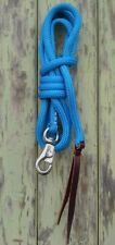 8ft (2.4m)  Lead Rope with Bull Snap in Blue by Natural Equipment