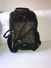 Swiss gear by wenger rucksack. Headphone jack inside. Three compartments.