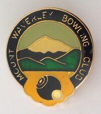 Mount Waverley Bowling Club Badge Pin Vintage Lawn Bowls Some Wear (L18)