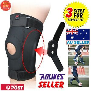 Full Knee Support Brace Knee Protection Double Metal Hinged Arthritis Pain Sport